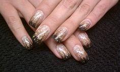Glitter Fade. #nails #glitter