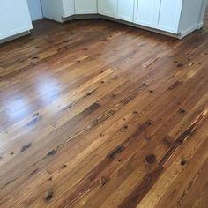 Hardwood Floor Stain Colors, Walnut Hardwood Flooring, Pine Wood Flooring, Heart Pine Flooring, Pine Floors, Plank Flooring, Paint Wood Floors, Kitchen Hardwood Floors, Reclaimed Wood Floors