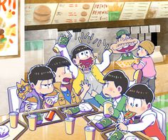 |I probably should be looking at one of the bros, but my eyes drift over to Sandy Cheeks (Dayon) over there.| Osomatsu-san