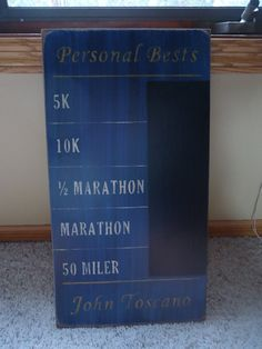 Running Distances Personal Record Goal Times - This thing is A-mazing! I really want this!!
