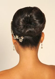 A more formal updo hairstyle.
