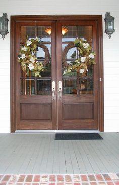 Wreaths For Double Front Doors Google Search Entry Door