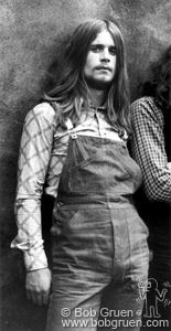 Young Ozzy in Black Sabbath. Ah the beginning of genius. ~Bob Gruen, Rock and Roll Photographer