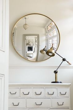 any metal finish, flat, aged or convex mirror. from £420 for a 45cm diam... any size possible