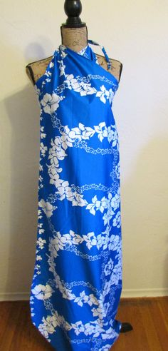 Hilo Hattie Hawaii Hawaiian Dress Maxi Sarong One Size by timegonebyvintage. Explore more products on http://timegonebyvintage.etsy.com