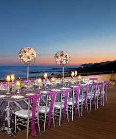 A formal sunset reception in San Jose del Cabo, Mexico
