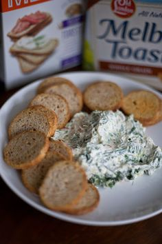 Easy Spinach & Veggie Dip with Old London Melba Toasts® | My Cooking Spot