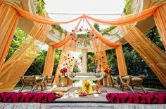 Stunning outdoor wedding. Take a look at the draping. | The Maharani Diaries