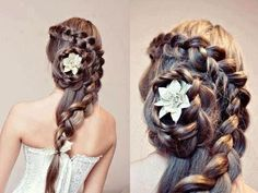 Hairstyle for long hair great for a wedding.