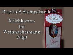 Milchkarton für Weihnachtsmann - YouTube #Stampin #Up #Basteln #Anleitung #Weihnachten #Schachtel #Box