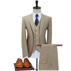 Classic Suit Men Slim Fit (Jacket,Vest,Pants)
