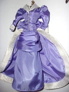 Victorian Outfit for Barbie Doll. Lavender and Ivory.