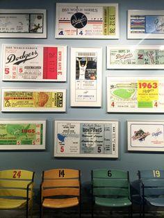 Dodger Stadium Memorabilia Let's Go Dodgers, Dodger Stadium, Gallery Wall