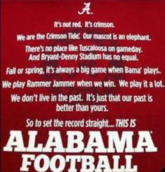 This is ALABAMA FOOTBALL....are you ready?