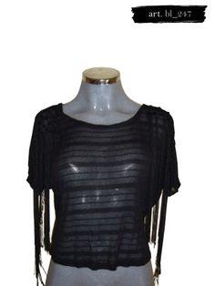 40a0db78cf Blusa Transparente Negra Camila Jones -   340.00