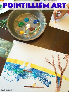 I do not consider myself an artist, but I really enjoy doing art with my kids. It stretches me and pushes me, and I am getting better!  This week we learned pointillism art with Georges Seurat. To start the Georges Seurat art lesson, I had to look up the pronunciation of his name. (Yeah, I don't speak French!) …