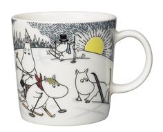 Skiing with Mr. Brisk Moomin Mug 2014 from Arabia by Tove Jansson, Tove Slotte Moomin Shop, Moomin Mugs, Moomin Valley, Tove Jansson, Cute Characters, Christmas 2014, Mugs Set, Scandinavian Design, Finland