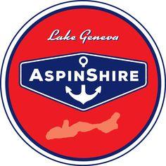 "0 AspinShire® Lake Geneva 4"" Round Sticker Poster Store, Lake Geneva, Round Stickers, Digital Prints, Studio, Logos, Illustration, Round Labels, Fingerprints"