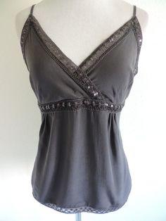 H&M Camisole Top Shirt Blouse 10 M Medium Gray #HM #Camisole
