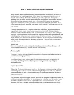 resume objective statements best templateresume objective examples application letter sample