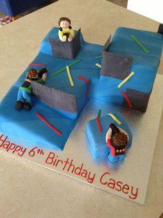 lasertag cake