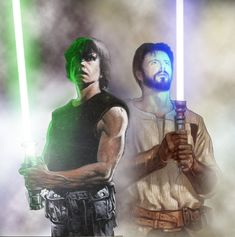 Luke Skywalker and Kyle Katarn by oliatoth on DeviantArt Star Wars Film, Star Wars Rpg, Star Wars Jedi, Images Star Wars, Star Wars Pictures, Star Wars Concept Art, Star Wars Fan Art, Kyle Katarn, War Novels