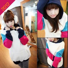 Sudadera colores/patchwork hoodie wh156