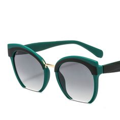 fe13523182 3.15 30% de DESCUENTO|De moda De color De Marco medio De Gafas De Sol del  ojo De gato De las mujeres De la marca De alta calidad Gafas De la calle ...