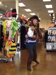 Captain Jack Sparrow shops at Goodwill