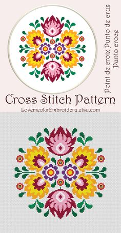 Thrilling Designing Your Own Cross Stitch Embroidery Patterns Ideas. Exhilarating Designing Your Own Cross Stitch Embroidery Patterns Ideas. Folk Embroidery, Learn Embroidery, Cross Stitch Embroidery, Embroidery Patterns, Floral Embroidery, Modern Cross Stitch Patterns, Counted Cross Stitch Patterns, Cross Stitch Designs, Cross Stitch Flowers