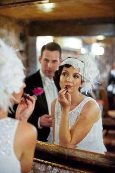 Roaring Twenties Bride. I love this so much!