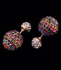 Image result for colored  stud earrings