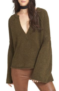 Free People Lovely Lines Bell Sleeve Sweater available at #Nordstrom