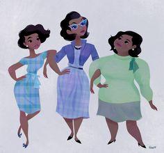 Always Forward by Tara Nicole Whitaker - Hidden Figures Black Girl Art, Black Women Art, Black Kids, Black Girl Magic, Art Girl, Storyboard, Pelo Natural, Au Natural, Hidden Figures