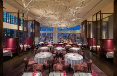 Mandarin Oriental, New York New York City, New York City Dining Drink Eat Elegant Food + Drink Hotels Luxury Trip Ideas function hall ballroom restaurant wedding reception Lobby banquet convention center