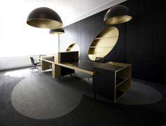 black and gold | Black and gold contemporary office color interior design - Zeospot.com ...