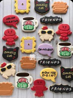 Friends Birthday Cake, Friends Cake, 14th Birthday, Birthday Cookies, Cake Tv Show, Friends Tv Show Gifts, Friends Merchandise, Friends Poster, Cookie Designs