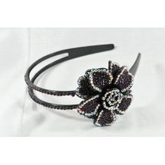 Dark Amethyst (Dark Purple) Flower Rhinestone Headband, Perfect for Women, Teens & Girls, Bling Bling Hair Accessory