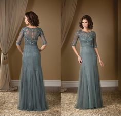 2015 Grey Mother Of The Bride Dresses Gorgeous Lace With Half Sleeves Evening Gowns Beaded Scoop Neck Tulle Mermaid Long Floor Length Petite Mother Of The Groom Dresses Plus Size Dresses For Mother Of The Bride From Nameilishawedding, $100.51| Dhgate.Com