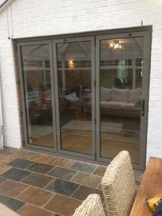 Image result for bifold doors between lounge and conservatory