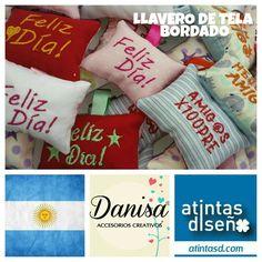 LLAVEROS CON FRASES. BORDADO TODO A PEDIDO. ENVIOS A TODO EL PAIS. www.atintasd.com Carrito de.compra on line