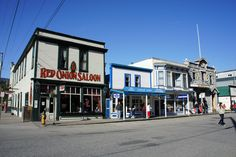 Saloons of Skagway, Alaska. Did you know the cruise ships own most of the shops in port towns in Alaska