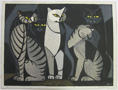 Cats (untitled) by Tomoo Inagaki Call: 510-526-1236