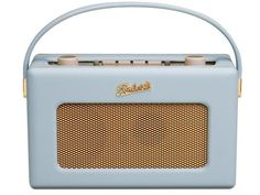The retro style portable Revival Roberts Radio looks cool and sounds great too with advanced FM/DAB features, retro styling and many modern features. Roberts Radio, Retro Radios, Portable Dab Radio, Blue Kitchen Accessories, Wedding Gift List, Audio, Thing 1, Duck Egg Blue, Speakers