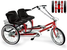 WANT! a bike to ride with and special needs person. if they don't want to pedal, they don't have to :)  $1,359.00