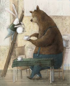 another bear having tea... what more can I say?