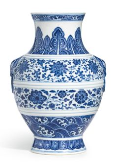 A BLUE AND WHITE VASE, HU JIAQING SEAL MARK AND PERIOD | Lot | Sotheby's