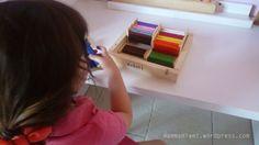 Come si usano: le spolette dei colori (Montessori)