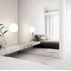 "833 Likes, 4 Comments - Eklund Stockholm New York (@eklundstockholmnewyork) on Instagram: ""Bedroom inspiration, beautiful details ✨✨✨ lighting by @flosscandinavia #esnyinspo"""