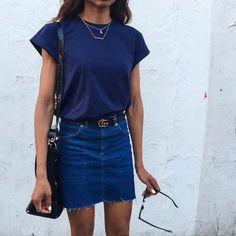 Imagem de fashion, outfit, and blue